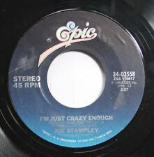 Country 45 Joe Stampley - I'M Just Crazy Enough / Finding You On Epic
