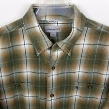 Carhartt Shirt Mens Sz L Plaid Check Button Down Long Sleeve Relaxed Fit Flannel