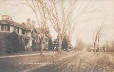 WALLINGFORD, CT ~ CHAOTE SCHOOL & ST. SCENE, QUIMBY TYPE REAL PHOTO PC ~ u. 1909