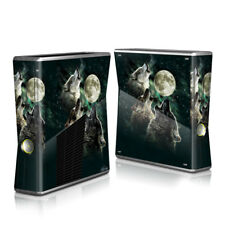Xbox 360 S Console Skin - Three Wolf Moon by Antonia Neshev - DecalGirl Decal