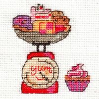 DMC BK9991B Happiness Is .. All Things Yummy Mini Cross Stitch Kit