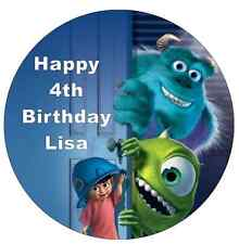 """Monsters Inc Mike And Sully Personalised Cake Topper Edible Wafer Paper 7.5"""""""