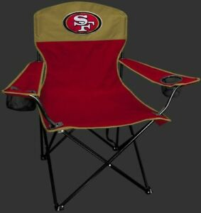 SAN FRANCISCO 49ERS LINEMAN Quad Folding Chair [NEW] NFL Travel Tailgate