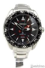 New Seiko Prospex Men Stainless Steel Kinetic GMT Date Watch 45mm SUN049 $475