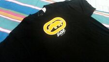 Men T Shirt M MARC ECKO UNLIMITED Rhino Logo Cotton Black and Yellow Logo