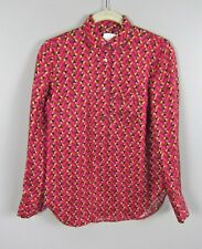 J Crew Collection pajama top in Ratti® hibiscus herringbone print SZ 6 F7056