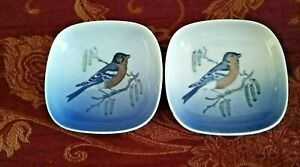 Royal Copenhagen Pair of Bird Pin Dishes 4858