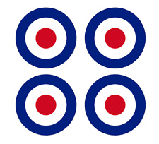 "Set of 4 Remote Control (RC7) Red Blue White RAF Roundels 2 3/4"" RC Aircraft Sti"