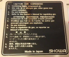 YAMAHA RD350 YPVS 31K LC2 RD350F FORK AIR SUSPENSION SHOWA CAUTION WARNING DECAL