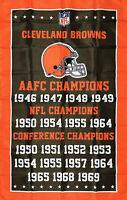 Cleveland Browns NFL Championship Flag 3x5 ft Sports Banner Man-Cave Garage New