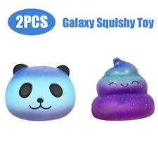 2pcs Fun Galaxy Panda & Poo Baby Cream Scented Squishy Slow Rising Squeeze Toys