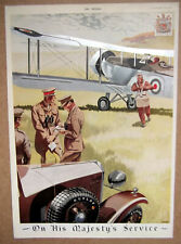 DUNLOP On His Majestys Service ~ Aviation Related ~ 1934 Military Colour Advert