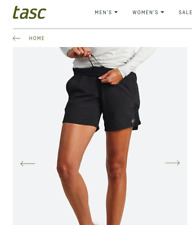 *New Tasc Women's Plus Size Workout Exercise Fitness Shorts Black Size 3Xl
