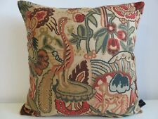 Liberty Morris Houghton Terracotta Vintage Floral & Linen Fabric Cushion Cover