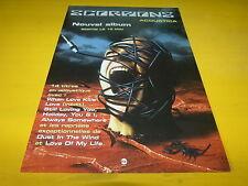 SCORPIONS - Publicité de magazine / Advert ACOUSTICA !!!