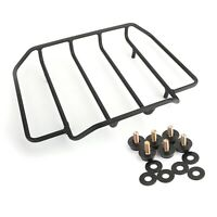 Black Top Rail Luggage Rack for Razor Chopped King Tour Pak FLHT Touring King T5