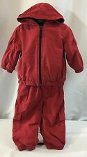 Vintage Gymboree In The Snow Boys 12-18 Mo Fleece Lined Outerwear Outfit Set Red