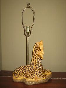 "GIRAFFE TABLE LAMP African Safari Style 26"" Tall"