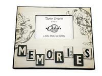 "Memories Photo Frame Picture Wooden Cream Brown Retro Chic 5x3.5"" SG1462"