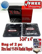 """XTRA SEAL 11-814 Square Booth Radial Tire Repair Patch  3-3/4"""" x 4"""" Bag of 2"""