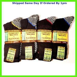 MultiPack Men's Black Luxury Bamboo Super Comfort Work Socks High Quality  WORK