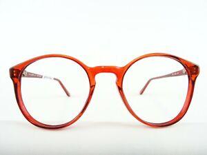 Kleine Panto Brille knallrot Kultbrille Kunststoffgestell unisex Markenware Gr/S