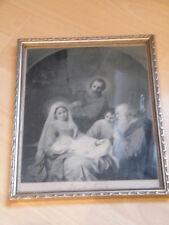 Sehr alter Druck altes Bild Sancta Familia Verlag von Serz & Co. Nürnberg