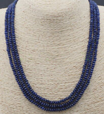 2X4mm NATURAL FACETED DARK BLUE SAPPHIRE GEMS BEADS NECKLACES 54""