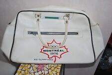 sac de sport vintage Jeux Olympiques de Montréal 1976 simili cuir blanc