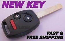 OEM HONDA CIVIC LX ODYSSEY keyless remote fob transmitter+NEW CASE W/ UNCUT KEY
