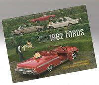 1962 FORD Full Line Brochure/Catalog: THUNDERBIRD,Fairlane,Galaxie,Station Wagon