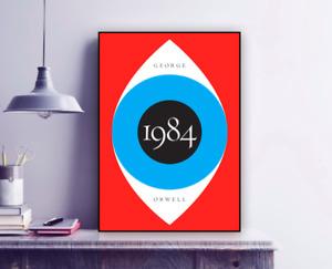 George Orwell '1984' Minimal Poster Print / Eye / Dystopian / Wall Art
