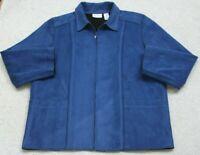 Blue Jacket Coat Woman's Eighteen 18 Zipper Front Alfred Dunner Polyester Womens