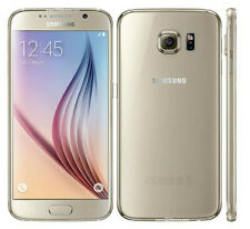 Unlocked Samsung Galaxy S6 SM-G920F Smartphone Gold +Accessories Gift