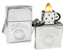 Zippo Lighter 28190 Jim Beam Silver Metal Stamp High Polish Chrome Classic NEW