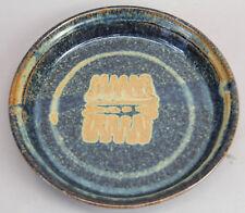 VINTAGE AMERICAN STUDIO ART POTTERY PLATE PLATTER BLUE BROWN GLAZE KEN FERGUSON