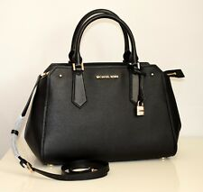 MICHAEL KORS Damen Tasche HAYES LG SATCHEL black/dark khaki 35F8GYES3T