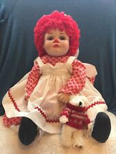 "Marie Osmond 20""   Raggedy Ann Porcelain Doll - Signed 1994 unique button joints"