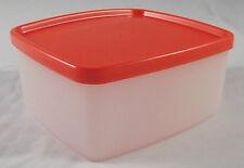 Tupperware G 01 Gefrierbehälter Gefrierdose 400 ml Weiß / Rot Rot-Orange Neu