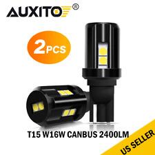 2x CNABUS T15 10 SMD 3030 Error Free LED Car Reverse Back Light Bulb 6500K White