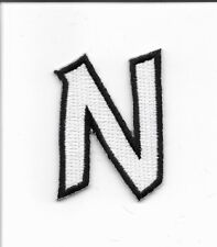 "2"" Letter N Embroidered Iron On Alphabet Patch w0019"