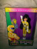 "1994 new / Vintage TRINI 9"" Doll YELLOW RANGER Mighty Morphin Power Rangers MIB"