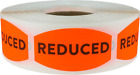 Reduced Retail Grocery Stickers, 0.75 x 1.375 Inches, 500 Labels on a Roll
