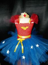 Girls Superhero Wonder Woman Tutu dress & Hairband fancy dress inspired