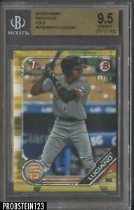2019 Bowman Gold Marco Luciano San Francisco Giants RC Rookie 50/50 BGS 9.5