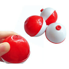 30pcs/lot Round Snap-On Red and White Hard Abs Fishing Floats Plastic Floats