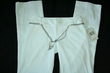 Womens Guess Co. stretch 81 white pinstripe pants tag size 24 NWT