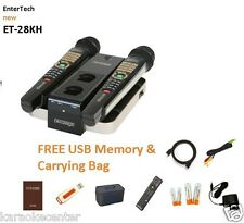 HINDI MAGIC SING ET28KH karaoke 3806 songs 2 WIRELESS MIC USB BAG NEW!