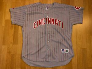 Cincinnati Reds Russell Athletic Size 52 Diamond Collection MLB Jersey shirt B34