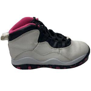 Nike Air Jordan 10 Retro Toddler 11 C Pure Platinum Vivid Pink Black 487212-008